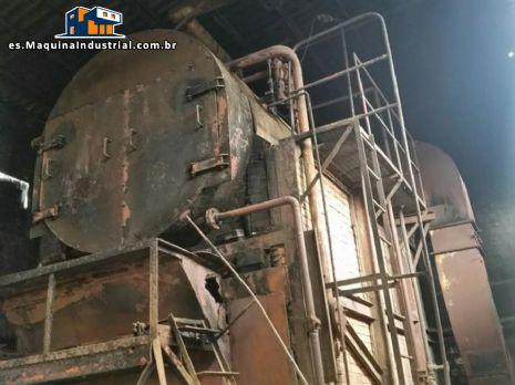 Generador de vapor horizonta l/ caldera para leña y madera