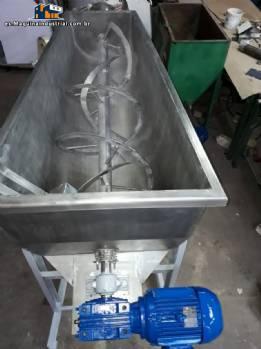 Cinta mezcladora acero inoxidable acoplado tornillo transportador