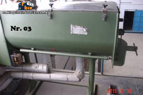 Industrial mezclador de la cinta de acero inoxidable con camisa Banerjee a 300 litros